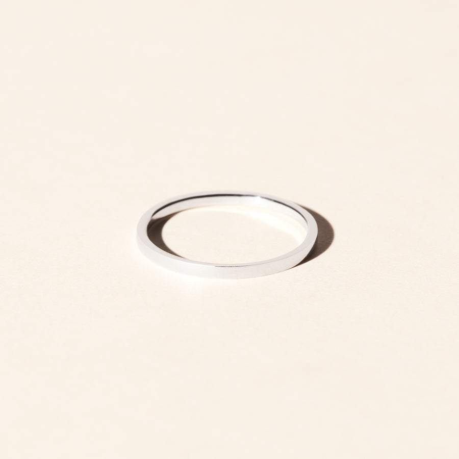 Alliance femme PALMIER 1.5mm - Or blanc 18 cts