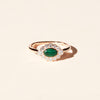 Bague Jacinthe malachite et diamants