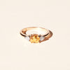 Bague Bahia saphir jaune et diamants ronds