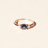 Bague Bahia saphir bleu et diamants ronds
