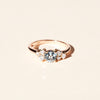 Bague Louise aigue marine et diamants