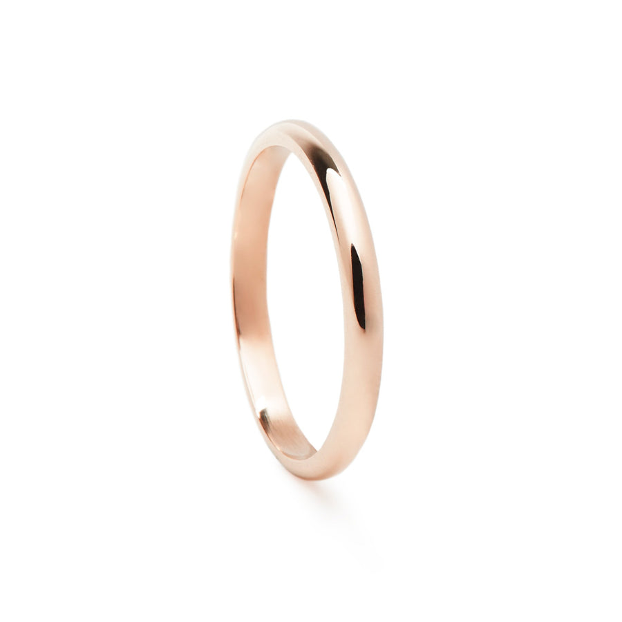 Alliance homme ROSEAU 2mm - Or rose 18 cts