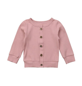 Knit Sweater Cardigan | Dusty Pink