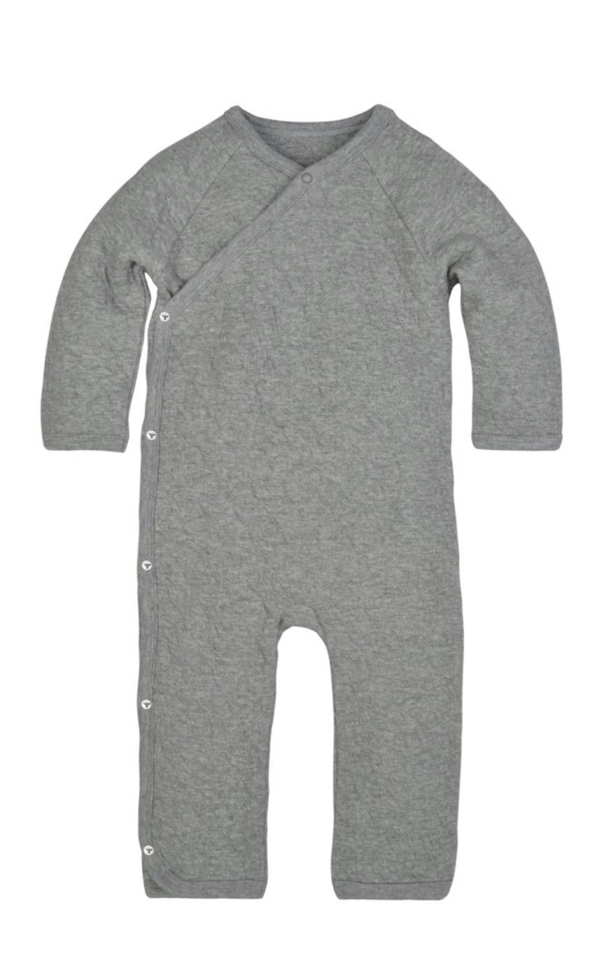 Quilted Kimono Coverall | Heather Grey