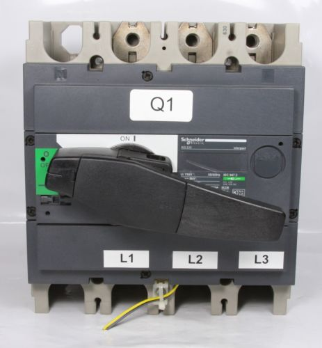 Schneider Electric Circuit Breaker INS630 interpact 3 Pole 630A