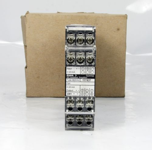 *New* Knick Isolation Amplifer Inpu 3820A2 Input 0-20Ma / Output 24Vdc