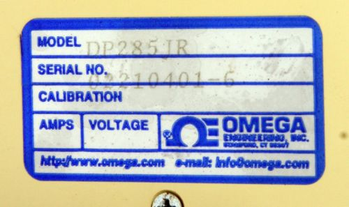 Omega Process Indicator Meter DP285JR
