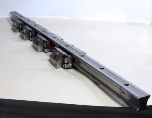 4X R166579420 Bosch Rexroth Ball Rail Runner Block + 1X Linear Guide Rail 81Cm