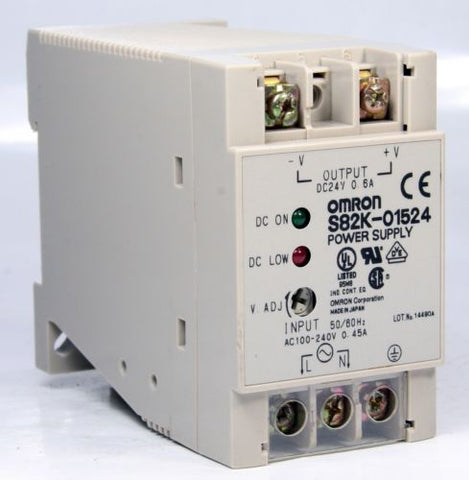 Omron Power Supply S82K-01524 24V DC 100-240 VAC 0.6A