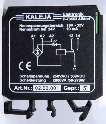 Kaleja Speed Control Relay D-73553 19-32