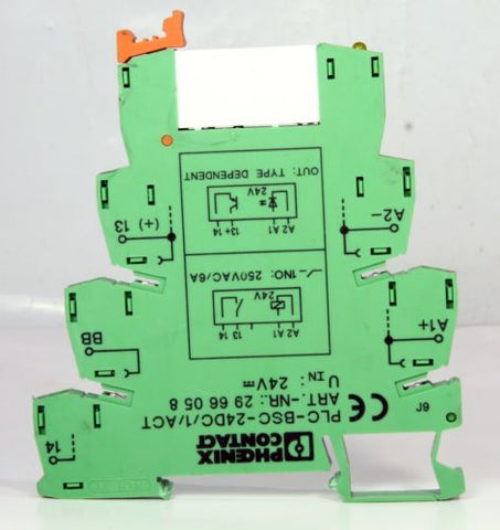 *6Pcs* Of Phoenix Contact Solid State Relay Terminal Block 2961105 + 2966058