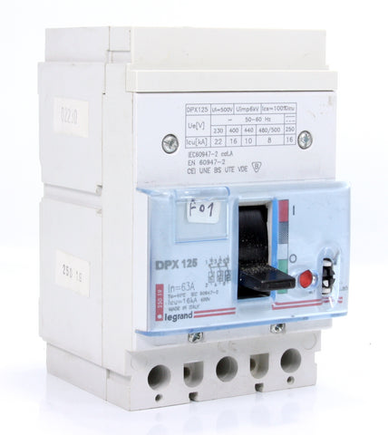 Legrand Circuit Breaker DPX125 3 Pole 63A