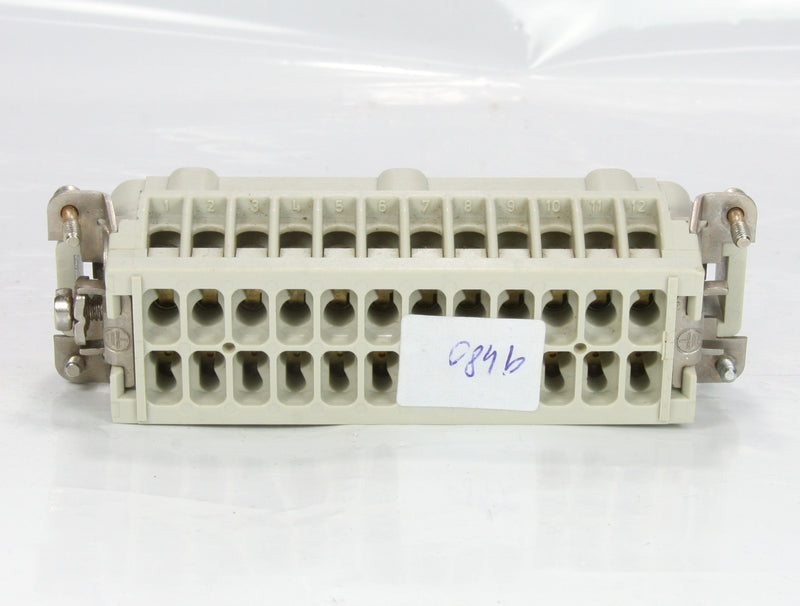 Harting Male Industrial Connector 24 Pin HAN-E24M