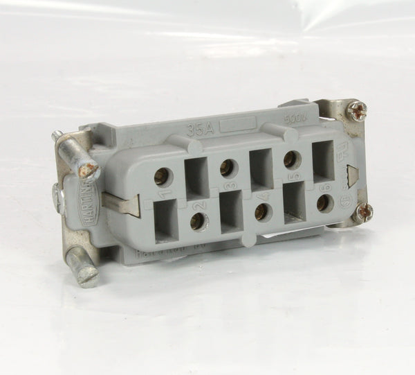 Harting Industrial Connector HAN 6HSB-BU 6 Pin Female 500V 35A