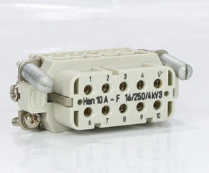 Harting  Industrial Connector HAN 10A-F 10 Pin Female 16A