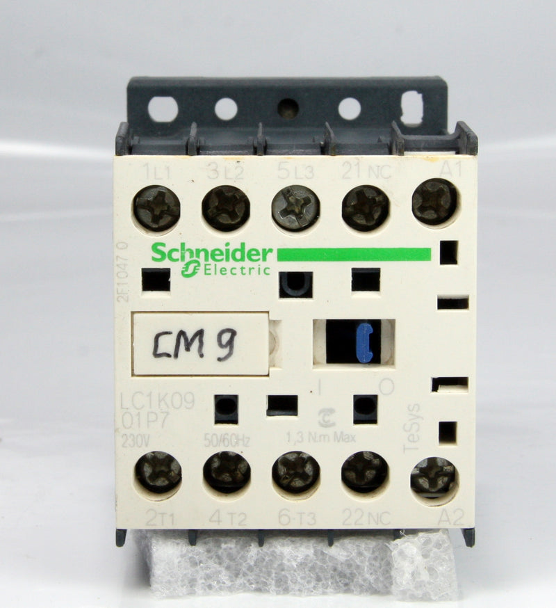 Schneider Electric Contactor LC1K0901P7 LC1K0901 230V 50/60HZ 20A 4kW 5Hp