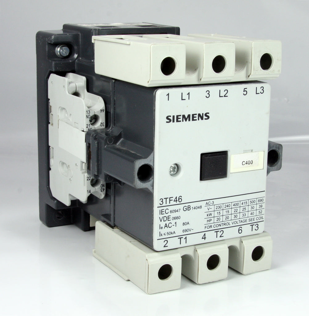 Siemens Contactor 3tf4622 Oxpo 230v 50hz 277v 60hz 3 Pole 80a 39kw Phase Wiring 52hp