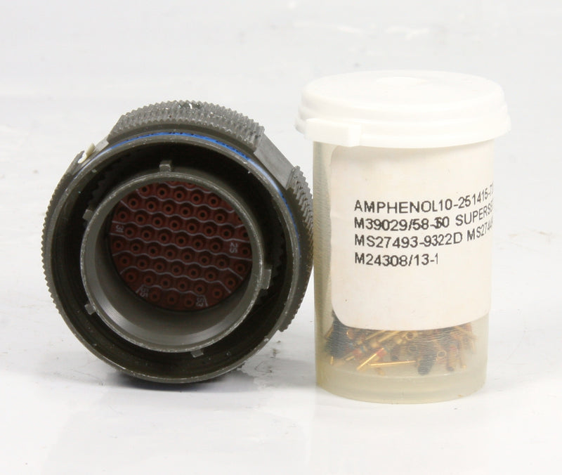 *New* Amphenol Mil-Spec Connector 10-251415-725 MS27493-9322D MS274494-22D
