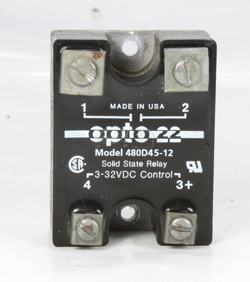 Opto 22 Ssr Solid State Relay 480D45-12 3-32VDC