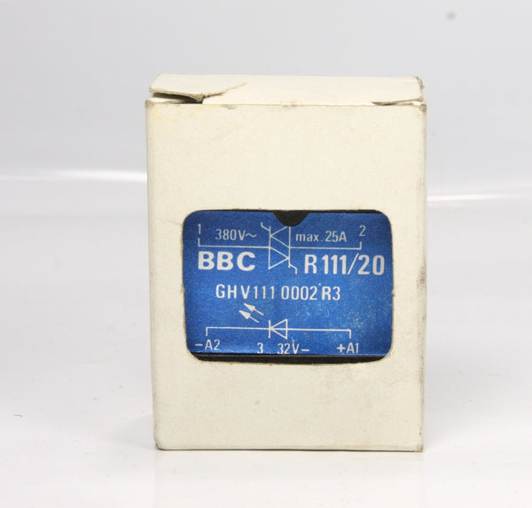 BBC Solid State Relay R111/20 GHV111 0002 R3 3-32V 25A