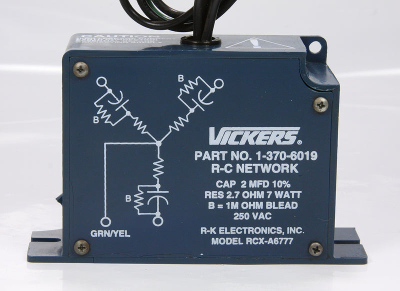 Vickers Transient Voltage Surge Suppressor R-C NETWORK 1-370-6019 RCX-A6777 250V