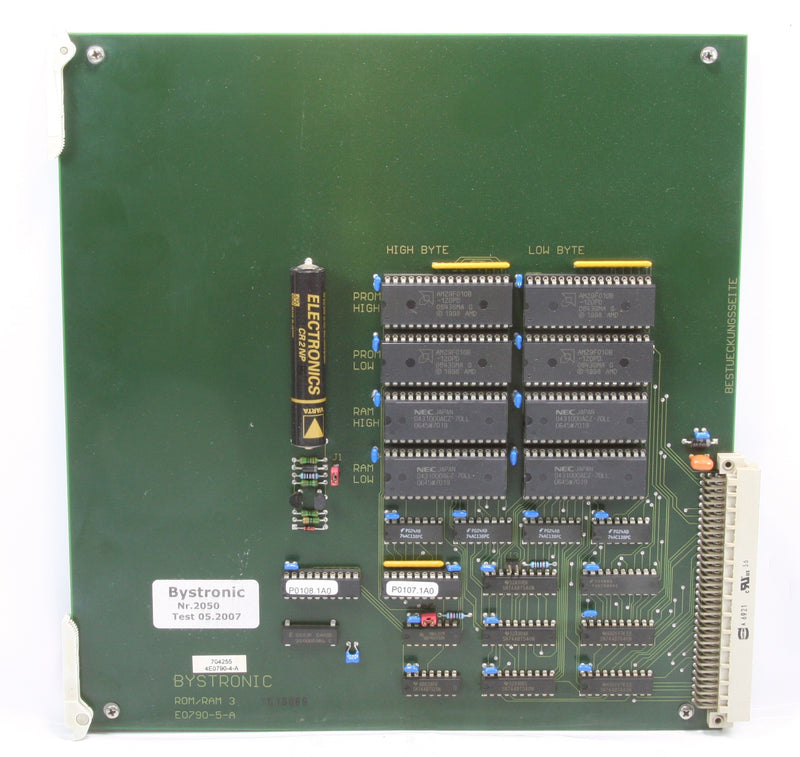 Bystronic Circuit Board Pcb E0790-5-A ROM/RAM 3