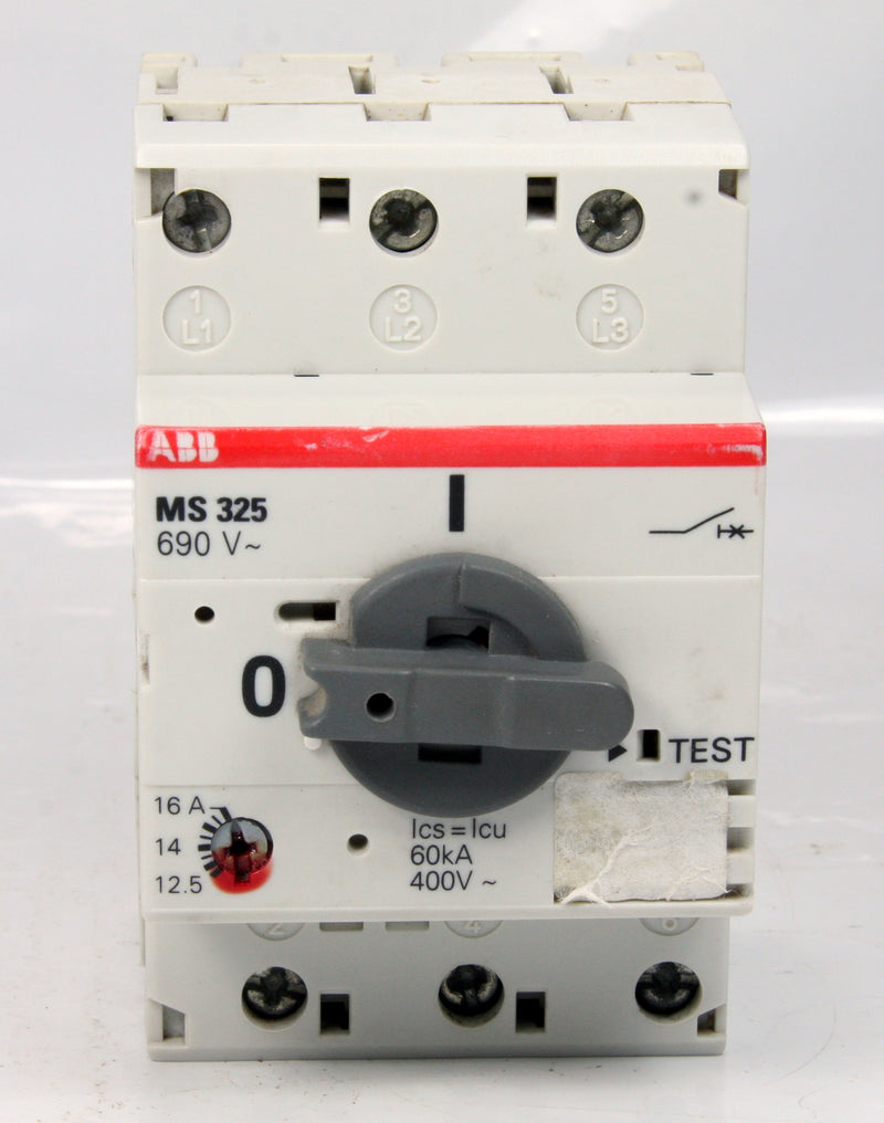 Abb Manual Motor Starter MS 325 MS325 3 Pole 12,5-16A 12.5-16A