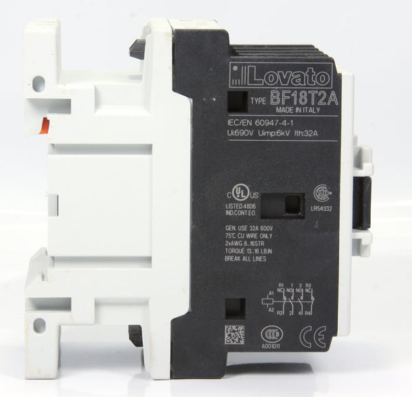 Lovato Contactor BF18T2A D1518 BF18 T2A 24V 50/60HZ 32A