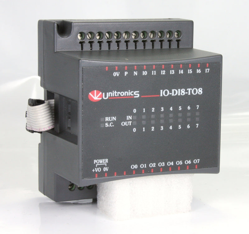Unitronics  I/O Expansion Module IO-D18-TO8