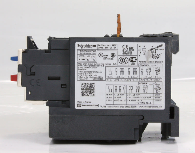Schneider Electric Overload Relay LRD350 41-50A