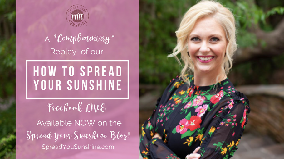 How to Spread Your Sunshine: KNOW Women Facebook Live Event