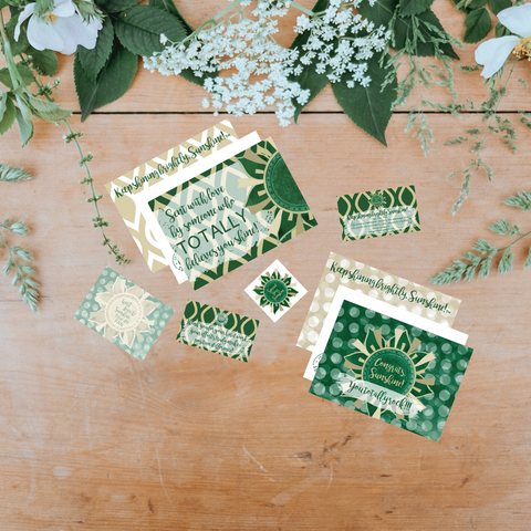 Spread Your Sunshine- Sunshine Green & Gold Collection