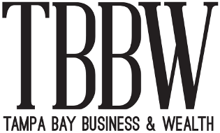 "Tampa Bay Business & Wealth Logo & Link to Artcile entitled ""Shumaker Advisors talks about leading in a crisis"" which featured Spread Your Sunshine founder, Melanie Griffin"