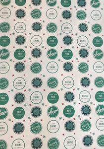 Wish you a Merry Christmas! Look how YOU sparkle!- White & Teal Wrapping Paper