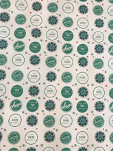 Load image into Gallery viewer, Wish you a Merry Christmas! Look how YOU sparkle!- White & Teal Wrapping Paper