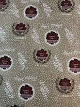 Load image into Gallery viewer, Happy Holidays- Cheers to sparkling YOU!- Kraft Wrapping Paper