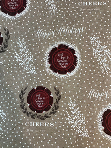 Happy Holidays- Cheers to sparkling YOU!- Kraft Wrapping Paper