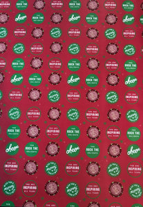 Wishing you a Merry Christmas! You rock the holidays!- Red & Green Wrapping Paper