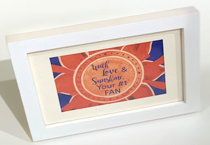 "Orange  & Blue ""Sunshine"" Collection Framed Prints"