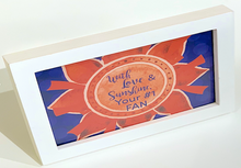 "Load image into Gallery viewer, Orange  & Blue ""Sunshine"" Collection Framed Prints"