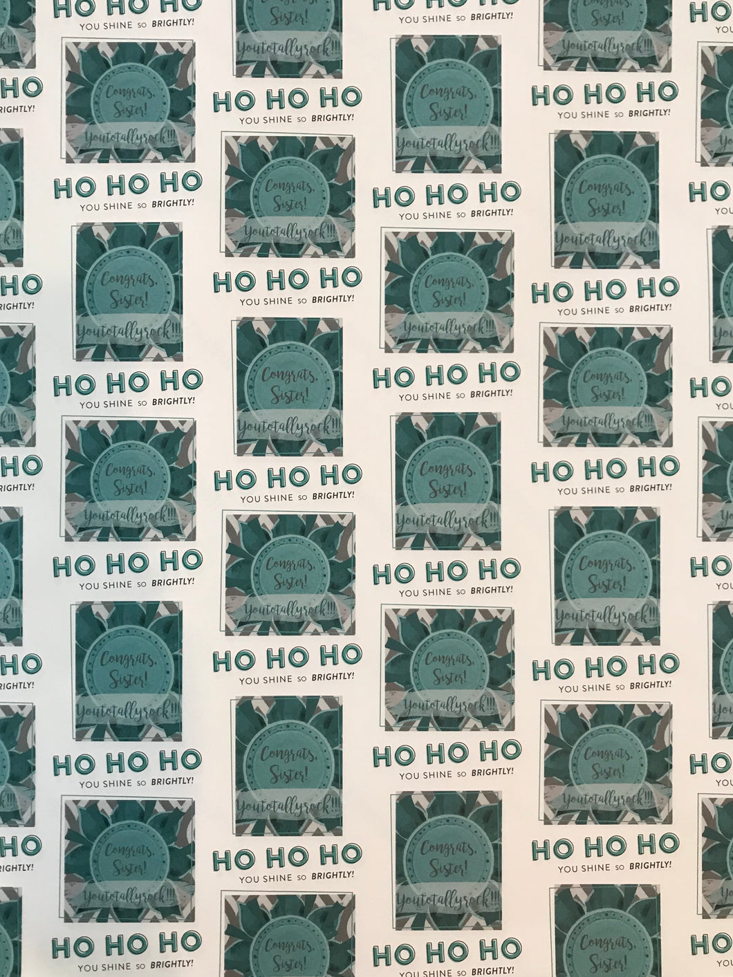 Ho Ho Ho! You shine so brightly!- White Wrapping Paper