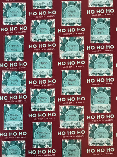 Ho Ho Ho! You rock the holidays!- Red Wrapping Paper