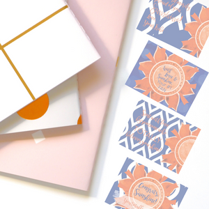 "Blue & Orange ""Sunshine"" Collection Post-it Notes"