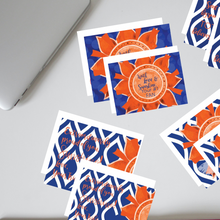 "Load image into Gallery viewer, Blue & Orange ""Sunshine"" Collection #ShineItForward 8-Pack Stationery Set"