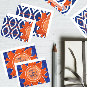 "Blue & Orange ""Sunshine"" Collection #ShineItForward 4-Pack Stationery Set"