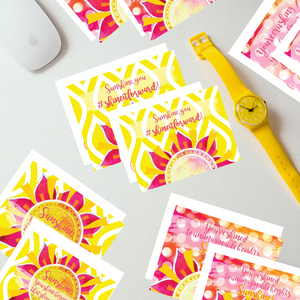 "Classic ""Sunshine"" Collection II #ShineitForward 4-Pack Stationery Set"