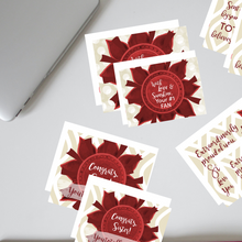 "Load image into Gallery viewer, Crimson & Pearl White ""Sister"" Collection #ShineItForward 4-Pack Stationery Set"