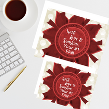 "Load image into Gallery viewer, Crimson & Pearl White ""Sister"" Collection #ShineItForward Individual Stationery Set"