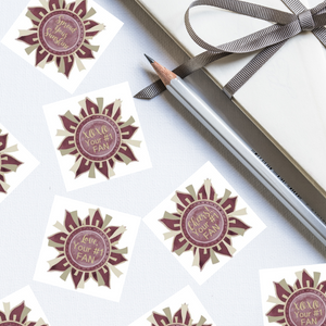 "Garnet & Gold ""Sunshine"" Collection Envelope Seals"