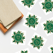 "Load image into Gallery viewer, Green & Gold ""Sunshine"" Collection Envelope Seals"